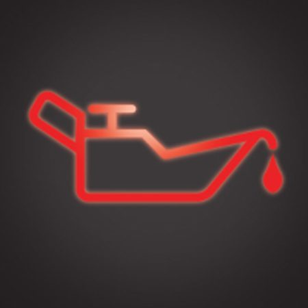 <b>Oil light</b></br> Stop in a safe spot when the oil light comes on and check the oil level in the engine.