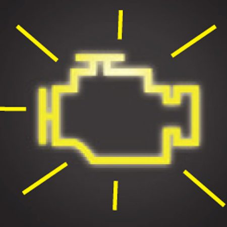 <b>Check Engine light</b></br> When the Check Engine light flashes, pull over to a safe spot and call for service.