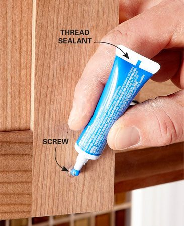 <b>Avoid future problems</b><br/>Every time the screw in a knob works itself loose, the owners of those cabinets are going to think unflattering thoughts about whoever put them in. Keep your customers happy&mdash;add a dab of removable thread sealant to every screw you install. Loctite is one brand.
