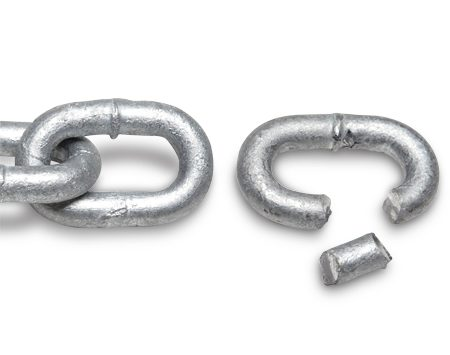 <b>5 seconds</b></br> Grade 43 home center 3/8-in. high-test hot-dipped galvanized zinc.