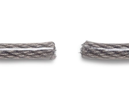 <b>60 seconds</b></br> 5/8-in. vinyl-coated flexible braided steel cable.
