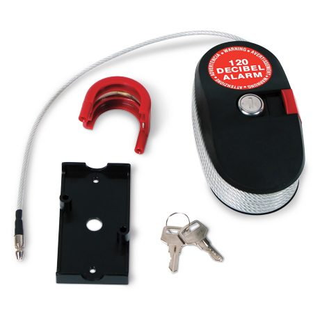 <b>This lock can't talk, but it can scream</b></br> The Rittenhouse lock alarm shrieks when the cable is cut. It's available in 15-ft. and 8-ft. versions at <a href='http://www.rittenhouse.ca' rel='nofollow' target='_blank'>rittenhouse.ca</a>.