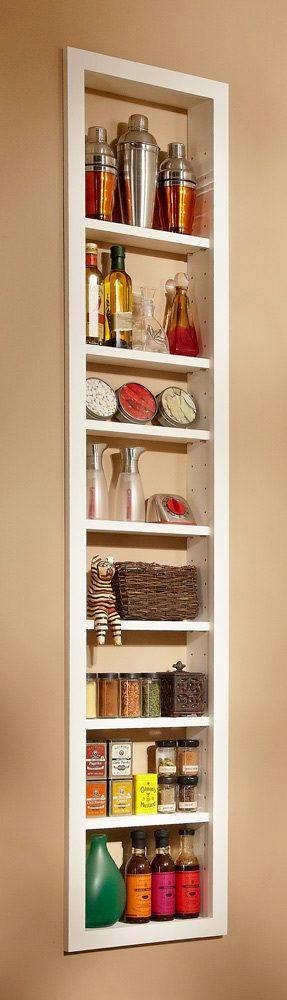 Basic version of built-in shelves.