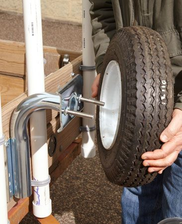 <b>Stow the spare</b><br/><p>Flat tires are the No. 1 cause of  trailer breakdowns.   If you&rsquo;re not carrying a spare  tire when   you get a flat, you&rsquo;re in a heap  of trouble. But   where do you keep it? In the  trailer bed where   it&rsquo;s in the way? This spare tire  carrier (Fulton   Performance Heavy Duty Spare Tire  Carrier; sold   at <a href='http://www.boatersplus.com' target='_blank' rel='nofollow'>boatersplus.com</a>)  doesn&rsquo;t  require assembly   and can be mounted easily to the  trailer rails. To   lock the tire in place, simply  run a bicycle locking cable down the tube and snap it shut.</p>