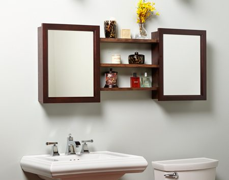 <b>His and hers medicine cabinets</b><br/>And don't stop with the second cabinet&mdash;add shelves in between for even more storage space.