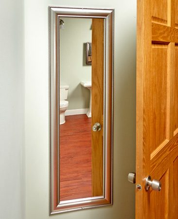 <b>Virtually double the size of your bathroom</b><br/>It not only uses unused space, it makes the whole room seem bigger.