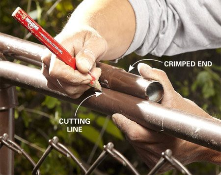 How To Repair A Chain Link Fence The Family Handyman