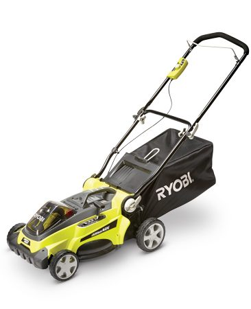 In addition to the other features, this cordless mower<br/> is also small and light and small enough to easily<br/> fit on a shelf.