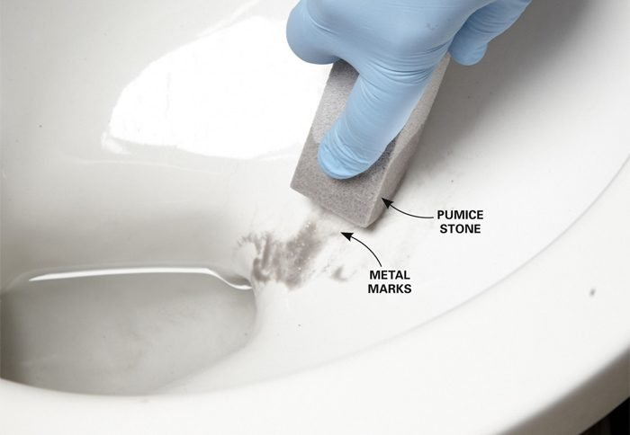 Porcelain Toilet Scratch Repair
