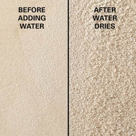 <b>Before and after</b><br/>I always raise the grain on raw wood before applying a water-based finish. Simply brush, sponge or spray on some distilled water and let it dry thoroughly (overnight is best). Then, resand with your final grit paper to break off the whiskers. Now when you apply the finish, the grain will stay down.