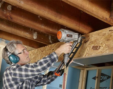 <b>Easy soffits around ductwork</b><br/>Rather than frame the sides with 2x2s or some other lumber, simply cut strips of plywood or OSB (oriented strand board) for the sides.