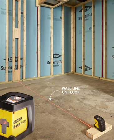 <b>Use a laser level</b><br/>Just buy one.  It'll make your DIY life way easier.