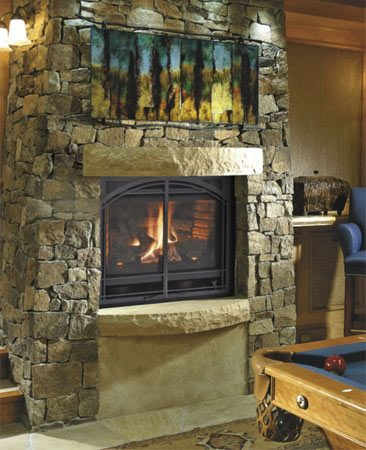 <b>Everybody loves a fireplace</b><br/>And a fireplace can be a great source of extra heat to warm up a room fast on cold winter days.<br/>Photo provided by Finished Basement Company