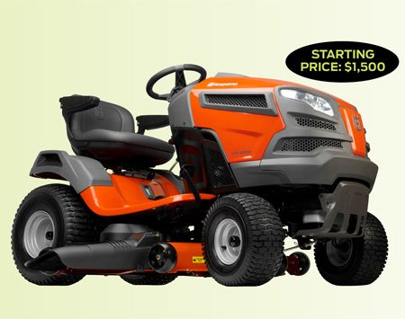 <b>Lawn tractor pros and cons</b></br> <p>Lawn tractors are the most popular of  all riding mowers. They're great   for cutting large lawns and for  light-duty gardening jobs. Most entry-level   models are equipped with a 38-in.  cutting deck, while the more   expensive versions can cut up to 54 in.  Most are powerful enough to run   an optional grass collection system or  tow a garden cart loaded with   supplies. However, lawn tractors aren't  designed to accept large attachments or do  heavy-duty work. </p>