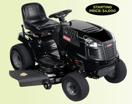 <b>Garden tractor pros and cons</b></br> <p>Garden tractors are built on heavy  steel frames and have larger   engines. So they can accept wider  cutting decks (up to 60 in.) than   a lawn tractor. And, they're powerful  enough to handle attachments   like tillers, cultivators, plow blades  and snowblowers. Many are   equipped with power takeoff (PTO) to  run a   pump or even a generator. But be  prepared to dig deep—they're  expensive. </p>
