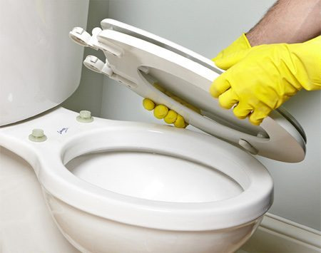<b>Why didn't I think of that?</b></br> <p>It seems like no matter how hard you  try, you can never get the hinges   on the toilet seat clean. There's  always a bit of cleaning solution that   seeps underneath and creeps out later.  Installing a detachable toilet seat solves the   problem. This Bemis brand seat is easy  to remove by just twisting two hinge caps   about a quarter of a turn. Then you  have easy access to clean under the hinges.   Detachable seats cost about $20.  Installation is straightforward and only requires a wrench. </p>