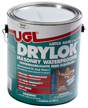 <b>Masonry waterproofer</b></br> Masonry waterproofing products are available at home center stores.