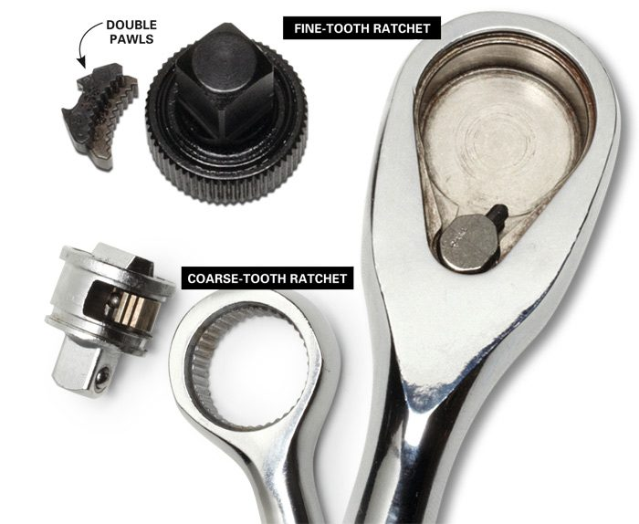 What the inside of a ratchet handle looks like.