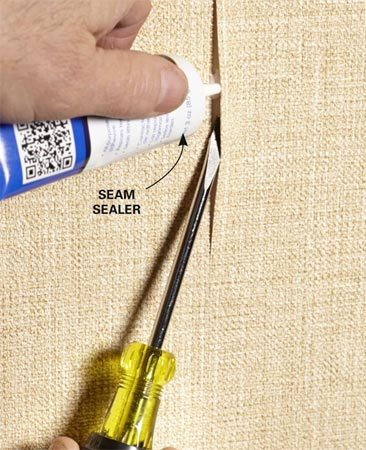 <b>Fix peeling wallpaper seams</b></br> Hold a rag soaked in warm water over the peeling seam for a minute or two, and then carefully open the gap a little larger so you'll have more room for the sealer.