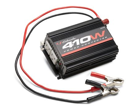 <b>Power inverter</b><br/>The inverter turns DC power from your car into AC current for low power electrical gadgets.