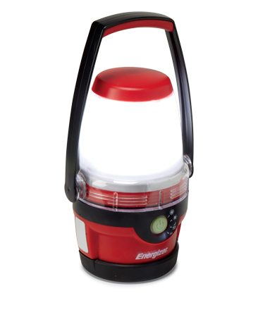 <b>LED lantern</b><br/>LED lighting lasts much longer than incandescent lighting when running on batteries.