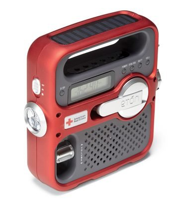 <b>Battery-powered radio</b><br/>You can listen to a battery-powered portable radio anywhere.