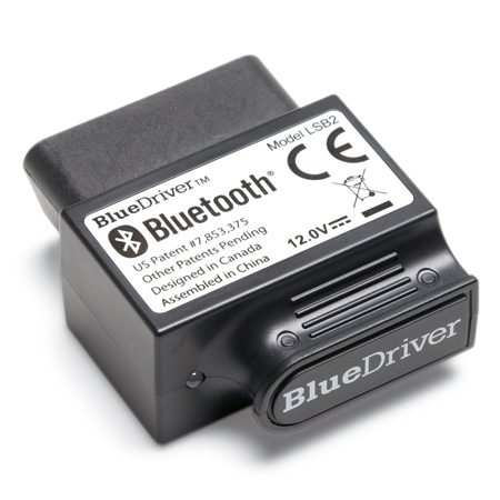 <b>BlueDriver sensor</b></br> Plug the obd scan tool into your car's onboard diagnostic port. The data is then sent via Bluetooth to your smartphone.