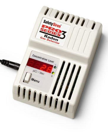 <b>Continuous radon tester</b></br> <p>Use a digital continuous radon meter to keep track of radon levels from day to day.</p>