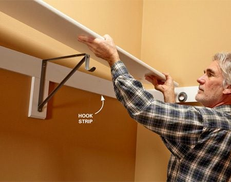<b>Simple, sturdy support for shelves and closet rods.</b></br> Depending on your shelf, a #3 pine 1x4 and some paint might be all you need.