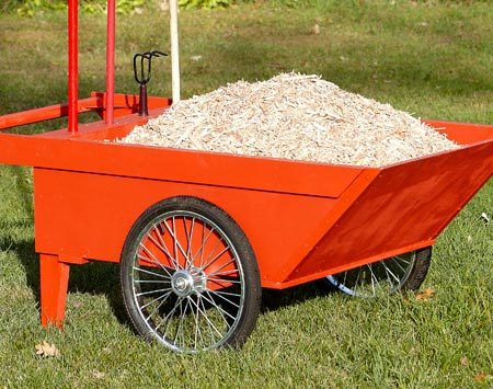 <b>Huge load? No problem</b></br> With a capacity of about half a yard, you'll move more in less trips with this cart than you could with a wheelbarrow.