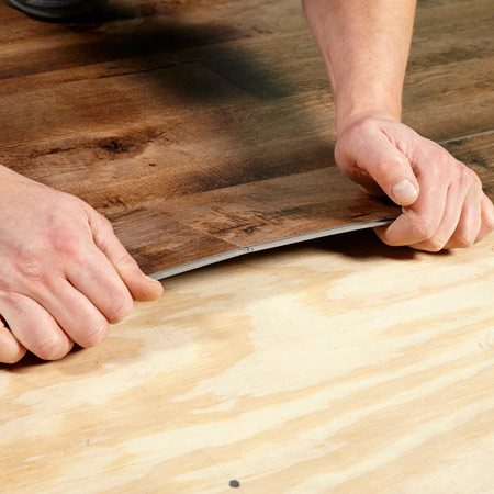 How To Install Luxury Vinyl Flooring The Family Handyman - Install vinyl flooring over plywood subfloor