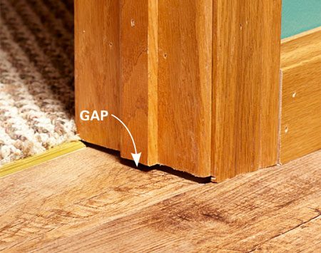 How to install luxury vinyl flooring the family handyman for Door gap filler