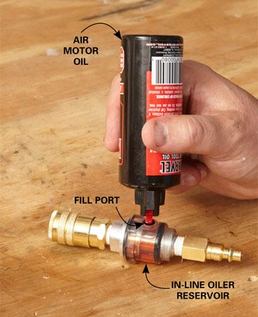 <b>Air tools need to be oiled</b><br/><p>If you don&rsquo;t oil your air tools regularly they&rsquo;ll corrode and seize up. An in-line oiler ensures your air tools stay properly oiled.</p>