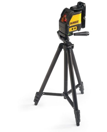 Using a laser level with a tripod.
