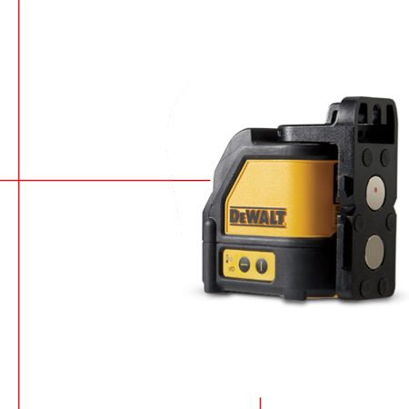 Self-leveling cross-line laser level.