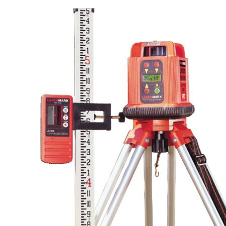 <b>Auto-leveling rotary laser</b></br> <p>Rent an auto-leveling rotary laser for large outdoor projects like setting elevations for foundation footings or leveling posts on a large deck. The kit will include a tripod, an elevation rod and a laser detector. The laser detector allows you to use the laser in bright sunlight.</p>