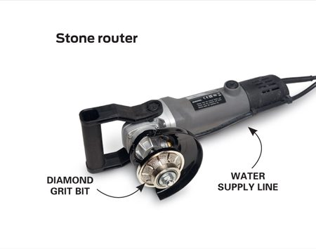 <b>Not just for wood</b></br> <p>My favorite router shapes stone rather than wood. It's basically an angle grinder with plumbing; water flows out of the bit for cooling and dust control. Mine cost about $200 online. Bits typically cost $100 or more.</p> <p>—Gary Wentz, Family Handyman Senior Editor</p>