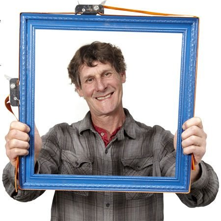 Family Handyman Senior Editor Travis Larson and his perfect picture frame.