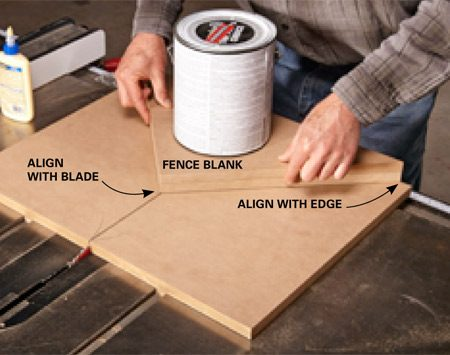 <b>Photo 6: Top off the fence</b></br> <p>Spread some glue on the fence and square up the edges, holding it down with another gallon can of paint until it sets up. After 15 minutes, you'll be ready to cut a perfect picture frame!</p>