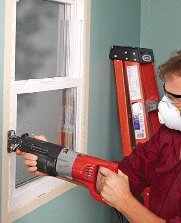 <b>A cleaner way to remove windows</b></br> <p>Spray foam insulation does a really good job of keeping the window or door in place during wall demolition. Just run a recip saw between the window and the framing and cut the fasteners and the foam at the same time.</p>