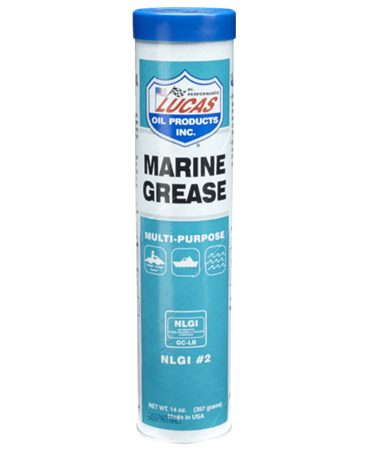 <b>Lubricates <i>and</i> inhibits rust</b></br> Keeps metal parts moving and prevents them from rusting together into single globs of corroded metal. Use marine grease to lubricate items that are directly immersed in water or constantly exposed to the elements.