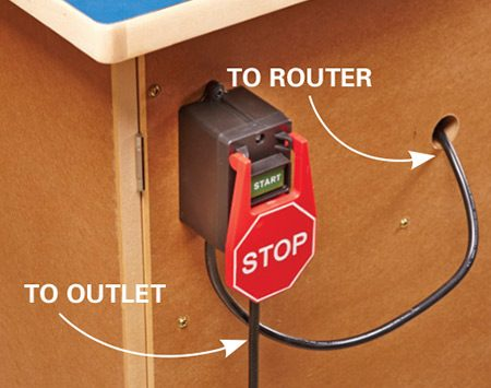 <b>Safe, convenient switch</b></br> The external switch lets you switch your router on without opening a cabinet door.