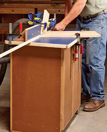 Making long, thin moldings with a handheld router is<br />frustrating and slow, sometimes even impossible.<br />With a router table, it's a breeze.