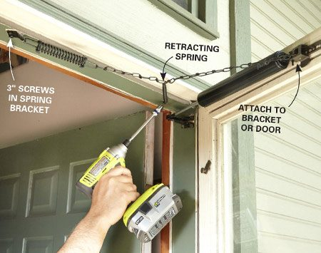 How To Fix A Screen Door The Family Handyman