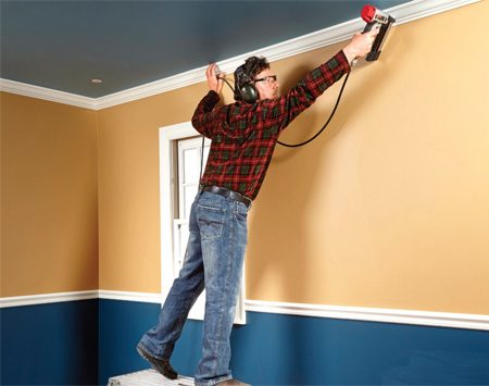 <b>One arm is longer than two</b></br> Finish nailers extend your reach. If you don't have to hold a nail with one hand and start pounding it with the other, you can install nails farther away from your ladder.