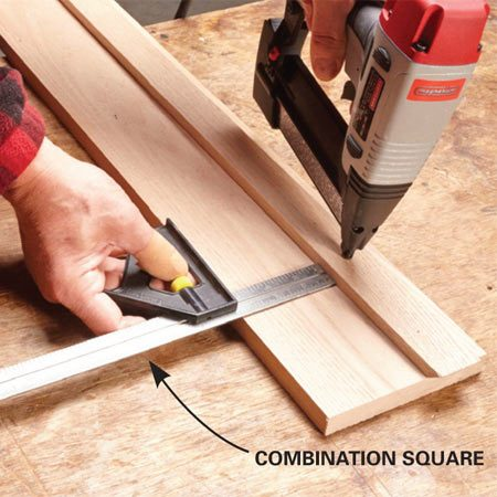 <b>For precise placement</b></br> Get precise, consistent placement of parts by using a gauge to hold them in place before fastening them with a finish nailer.