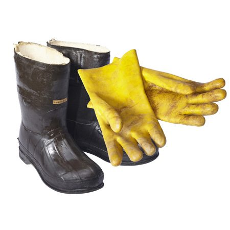 <b>Protective gear</b></br> <p>Rubber boots and gloves protect your skin against the degreaser and resurfacer (which can burn skin). You'll also need eye and hearing protection.</p>