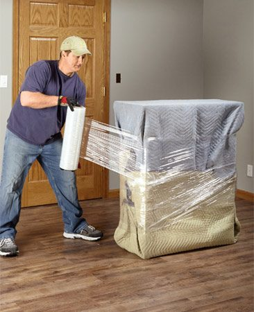 <b>Avoid damage</b><br/><p>Moving blankets are invaluable for protecting the items you're moving as well as your house. Sure, renting them is cheap, but you can buy several for just a few dollars more at home centers or <a href='http://www.uhaul.com' rel='nofollow' target='_blank'>uhaul.com</a> and always have them on hand. (You'll use them for all kinds of other things too.) To prevent damaging the finish and fragile edges of dressers, tables and other furniture, wrap the items completely with moving blankets and secure the blanket with stretch film. Find 20-in. wide rolls of stretch film at home centers and moving outfitters.</p>