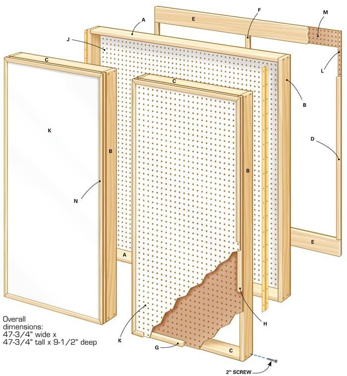 Figure A: Pegboard Wall Cabinet