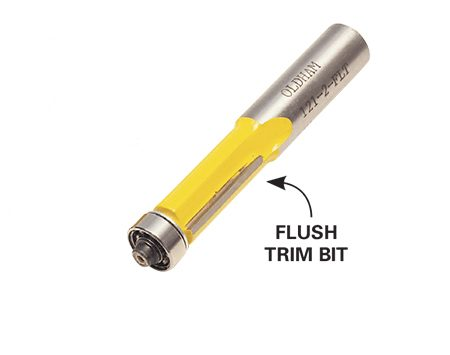 <b>Flush trim bit</b></br> <p>A self-piloting flush trim bit with a bottom bearing makes the joint between face frame and box almost disappear. They're available anywhere router bits are sold.</p>